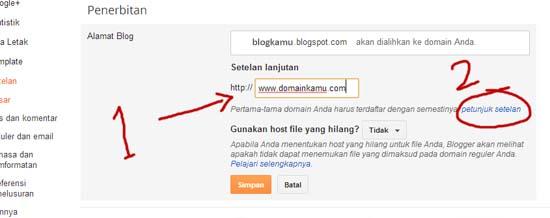 cara merubah blogspot menjadi .com
